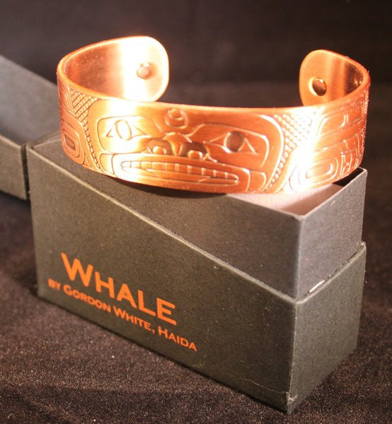 Copper Plated Bracelet - Whale