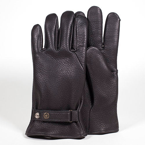 Deergrain Leather Glove (Black)
