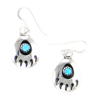 Turquoise Bear Paw Earrings