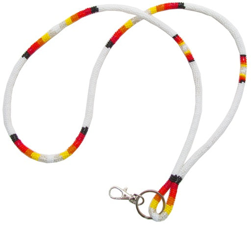 """ Wrapped Beaded Lanyard """