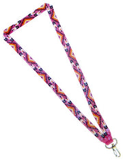 """Beaded Loom Cutglass Lanyard (Feathers Pattern)"""