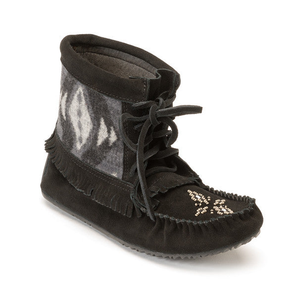 *Discontinued* Wool Harvester Suede Moccasin (Black)