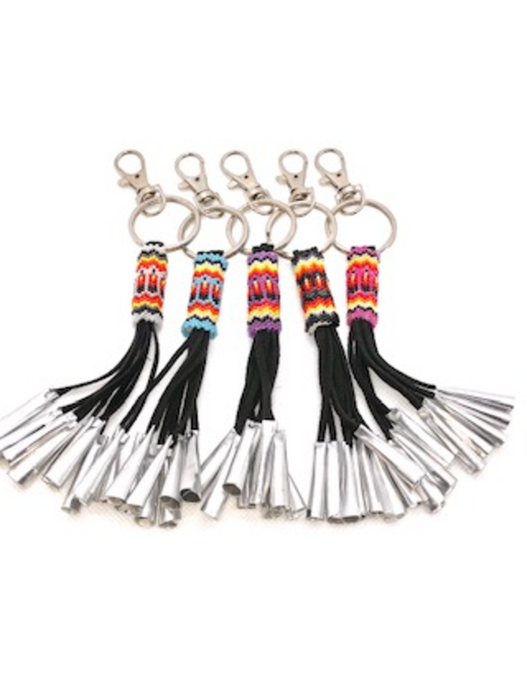 Jingle Fringe Key Chain with Beadwork