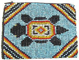 Beaded Coin Purse - Turtle