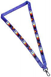 Beaded Loom Cutglass Lanyard (Feather Design)