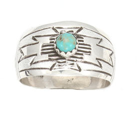 Domed Ring with Turquoise