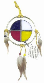 Stained Glass Medicine Wheel