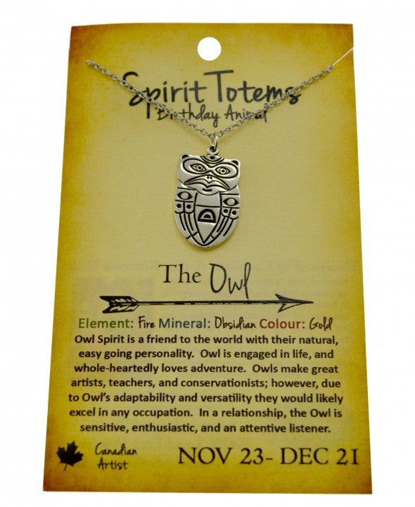 Owl Spirit Totem Necklace