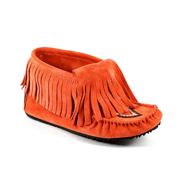 *Discontinued* Paddle Suede Moccasin (Salmon)