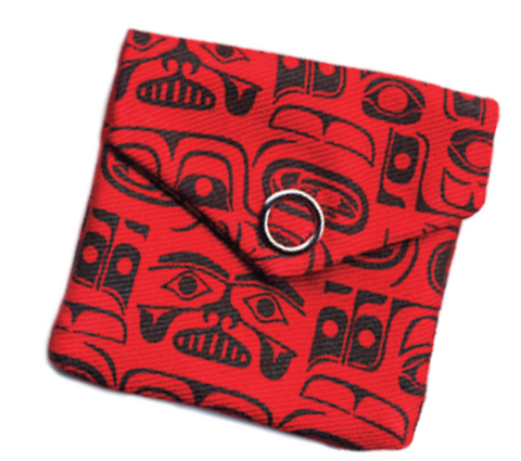 Pocket Spirit Pouch - Chilkat Whale