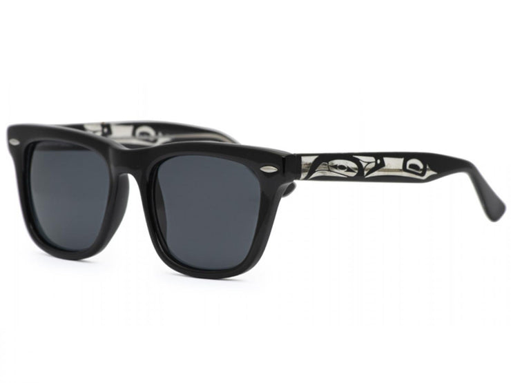 Unisex Quinn Killer Whale Sunglasses (Black)