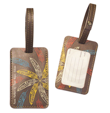 Luggage Tag - Raven Feathers