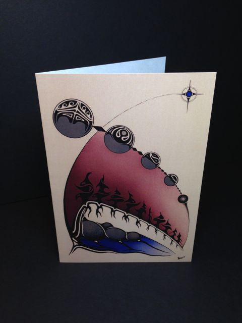 "5"" x 7"" Art Card - Evening Star/Moon Rising"