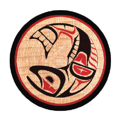 * Discontinued* Round Wood Magnet - Salmon