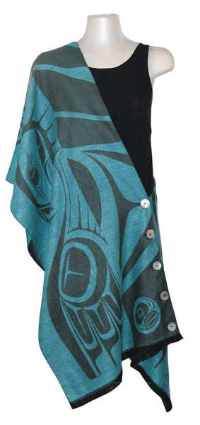 Button Shawl - Eagle (Green)