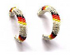 Beaded Hoop Earrings (2 cm)