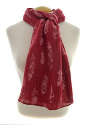 Red Feathers Scarf