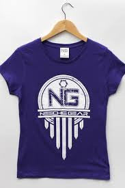 Womens Neechie Gear T-Shirt - Traditional (Purple)