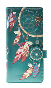 Dream Catcher Teal Wallet (Large)