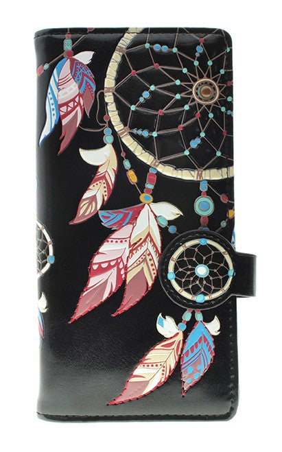 Dream Catcher Black Wallet (Large)
