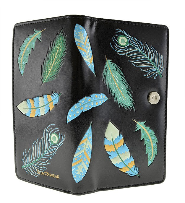 Feather Pattern Wallet (Large)