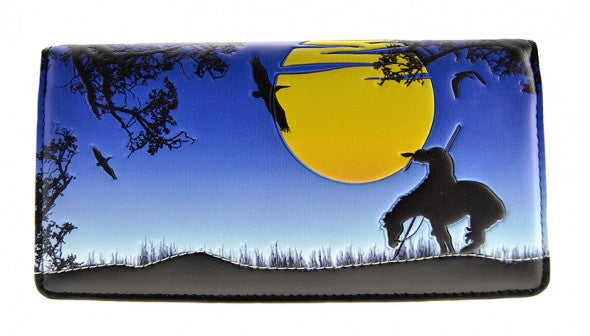 End of the Trail Blue Wallet (Large)