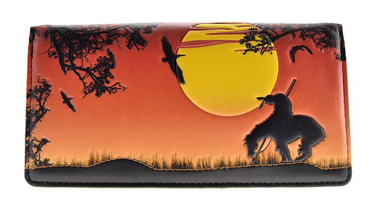 End of the Trail Orange Wallet (Large)