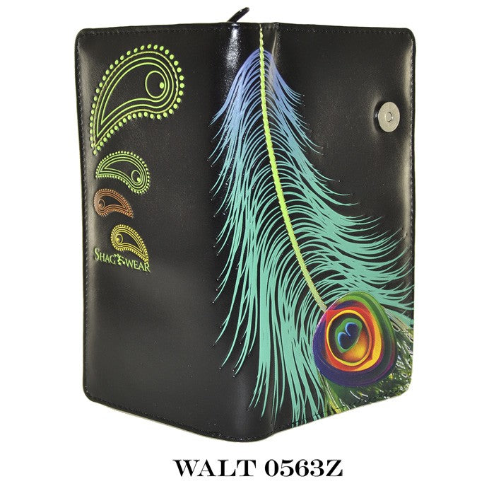 Peacock Feather Wallet (Large)