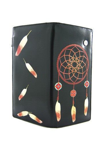 Black Dream Catcher Wallet (Large)