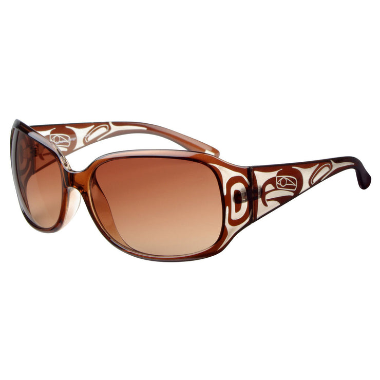 Ladies Yasmine Eagle Sunglasses (Crystal/Brown)