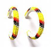 Beaded Hoop Earrings (3 cm)