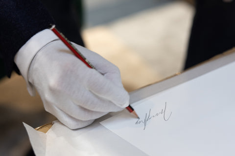 Hand signing artist proof limited edition art prints