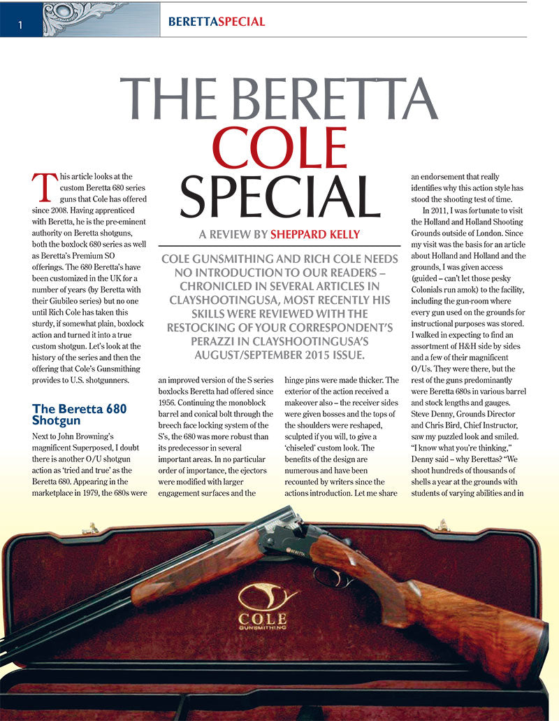ClayShootingUSA - The Beretta Cole Special Review | Cole