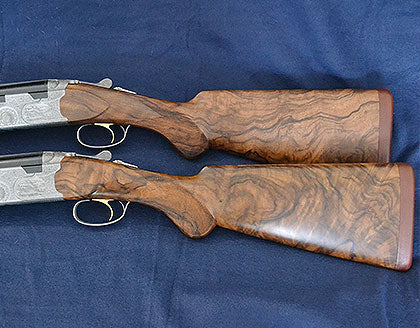 custom hand carved shotgun stock - finished