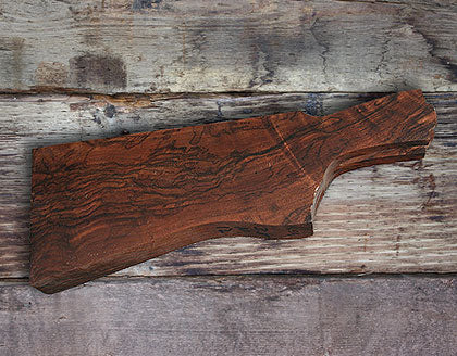 high quality wood blank ready to be carved into custom shotgun stock