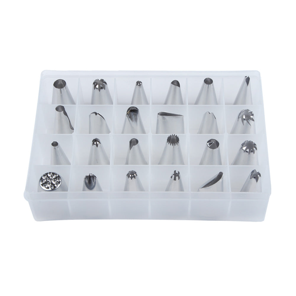 Tool box set of 24pcs icing piping nozzles tips for cake, pastry, sugarcraft, decorating