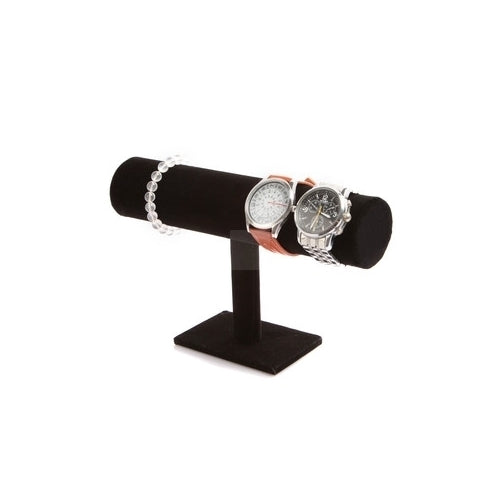 1 tier jewelry, bracelet, necklace,watch display/stand Holder T-bar - Black