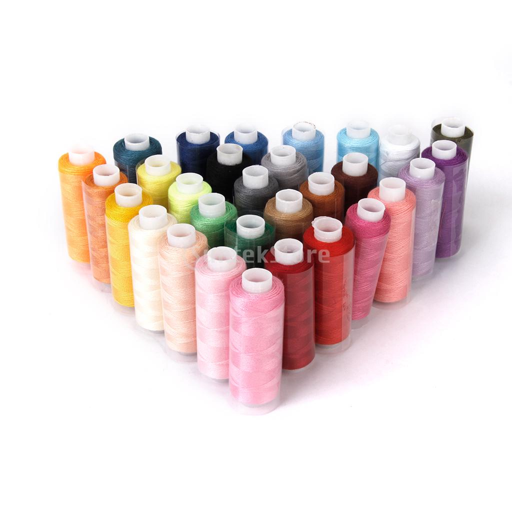 Pack of 24 Assorted Colored Cotton Polyester Sewing Thread