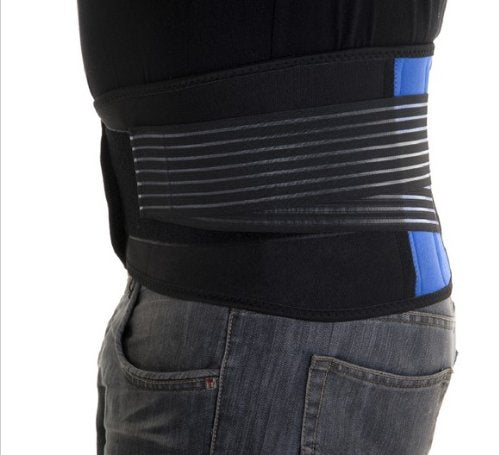 Neoprene Double Pull Lumbar Back Support Brace - Extra Large