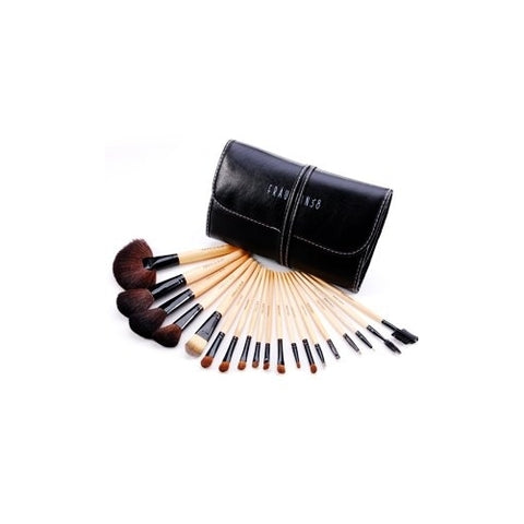 19 pcs Professional Wooden Sable Makeup Brush Set with Case