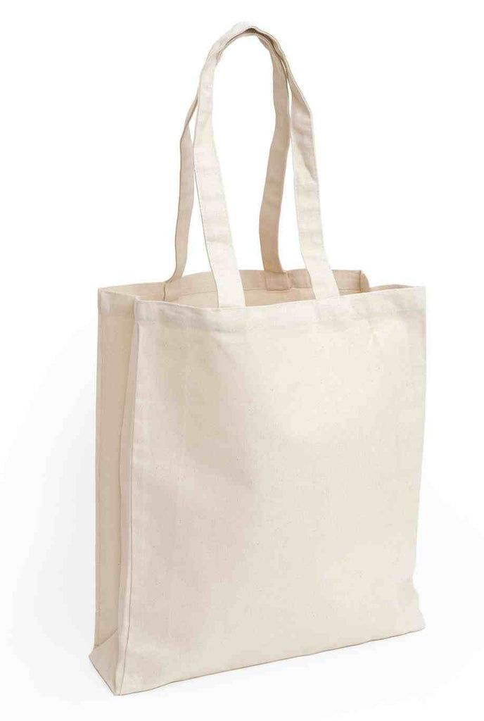 12 Canvas bags with long handles | Natural colour | Decoration DIY Craft | REUSABLE  Tote Bags Minimalism Shopper