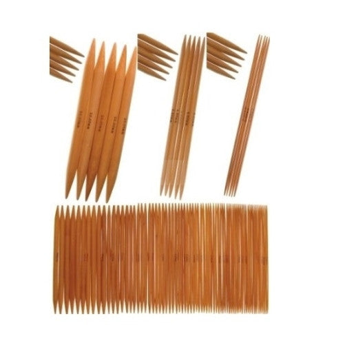 "80 pieces of 18cm/7"" Bamboo Knitting Needles carbonized (2mm-12mm) Double Point with Case - Crochet"