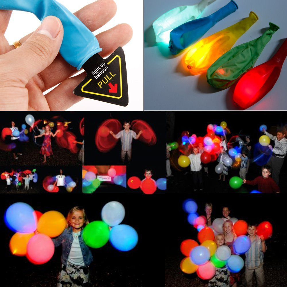 15 pcs Multicolour LED Light Up Balloons Wedding Party Birthday - Lights Lanterns