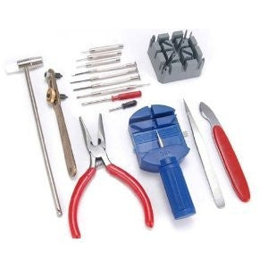 16 pieces watch repair tool kit set - Pin & Back remover opener