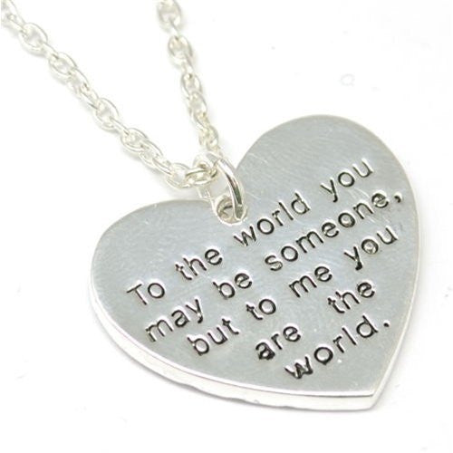 "2 Sided Worded Love Necklace with 16"" Chain"