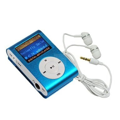 4GB MP3 Player with Radio - Blue