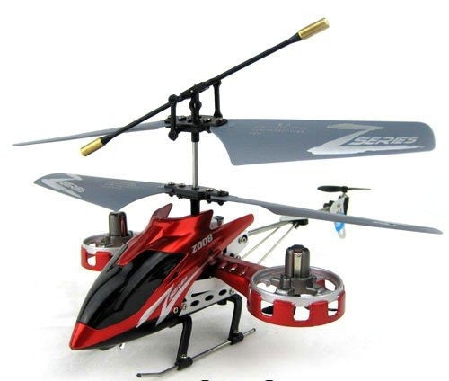 Z008 Mini / Micro 4CH Remote Control Helicopter RTF with Gyro and USB - Red