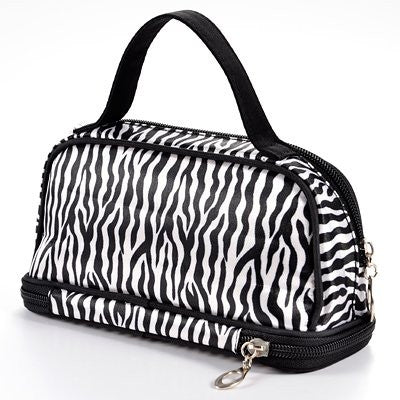 Zebra White Pattern Cosmetic Make up Travel Package Case Pouch - Model 285