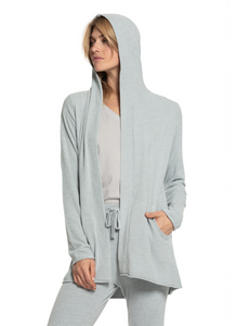 CozyChic Ultra Lite Hooded Cardi in Blue Water