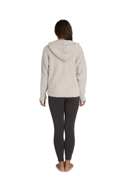 CozyChic Women's Relaxed Zip Up Hoodie in Stone